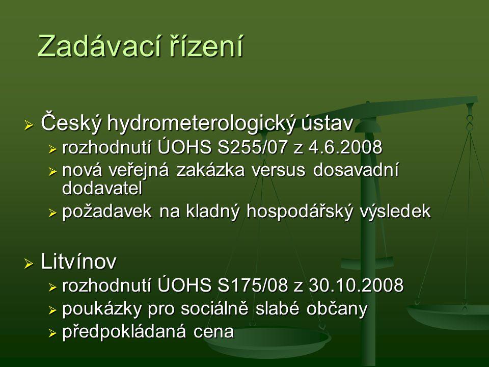Zadávací řízení Český hydrometerologický ústav Litvínov