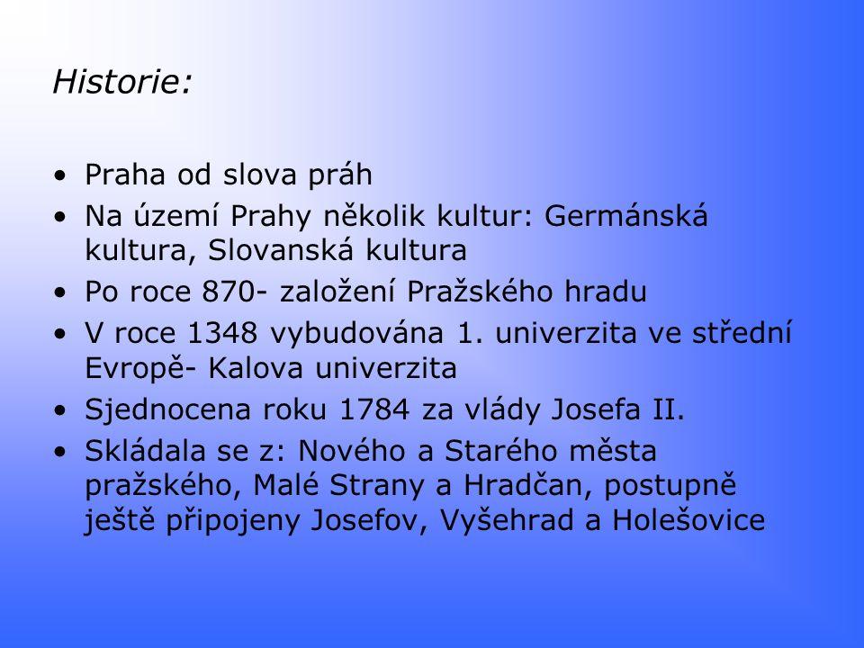 Historie: Praha od slova práh