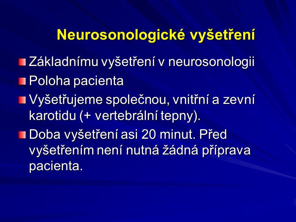 Neurosonologické vyšetření