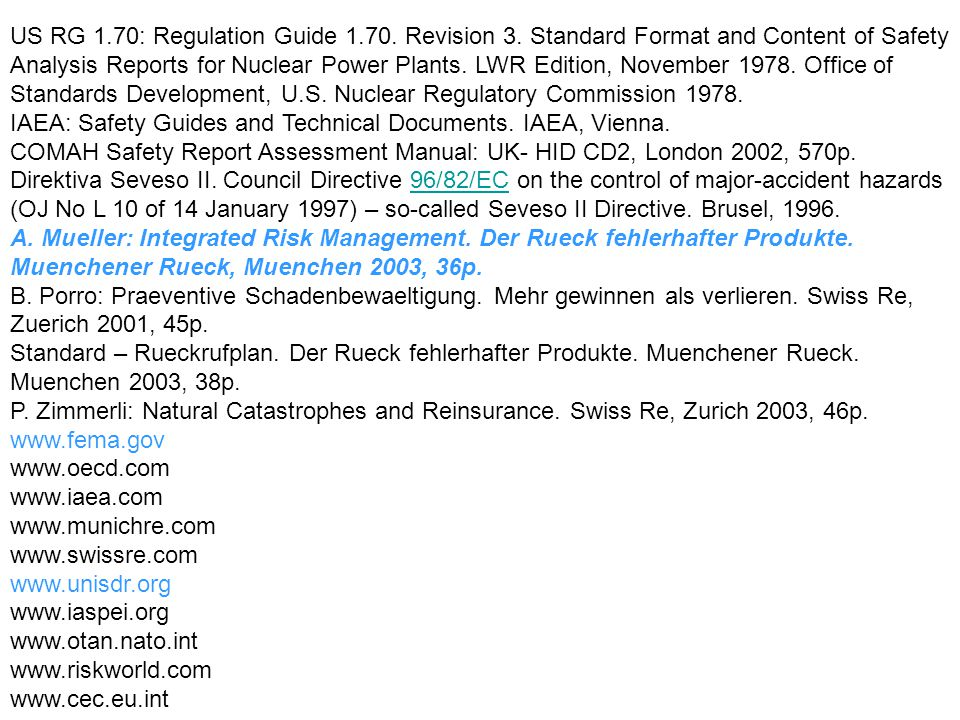 US RG 1. 70: Regulation Guide Revision 3