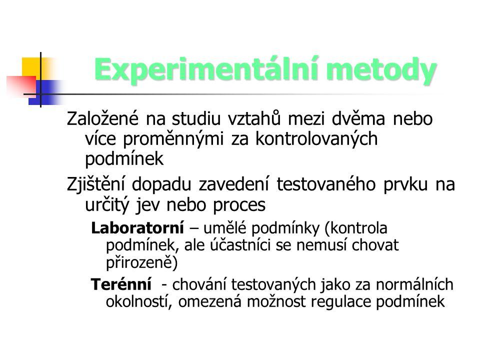 Experimentální metody