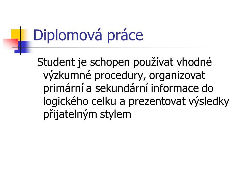 Diplomová práce