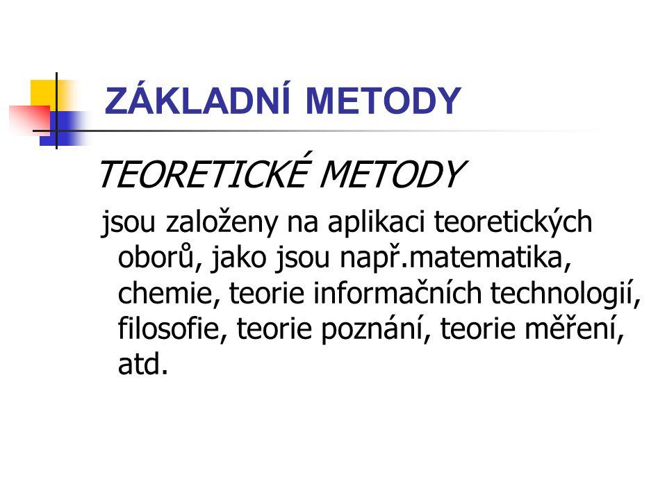 ZÁKLADNÍ METODY TEORETICKÉ METODY