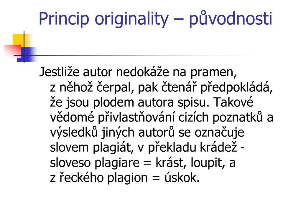 Princip originality – původnosti