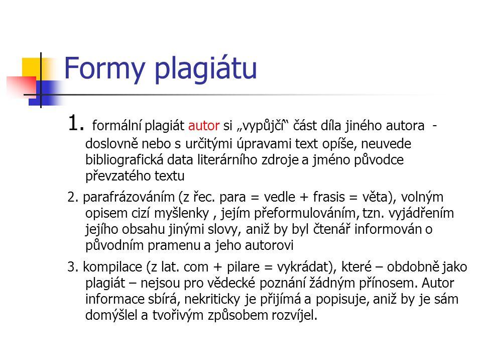Formy plagiátu