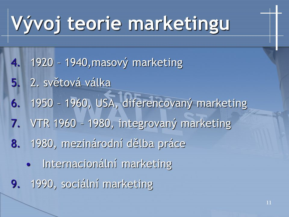 Vývoj teorie marketingu