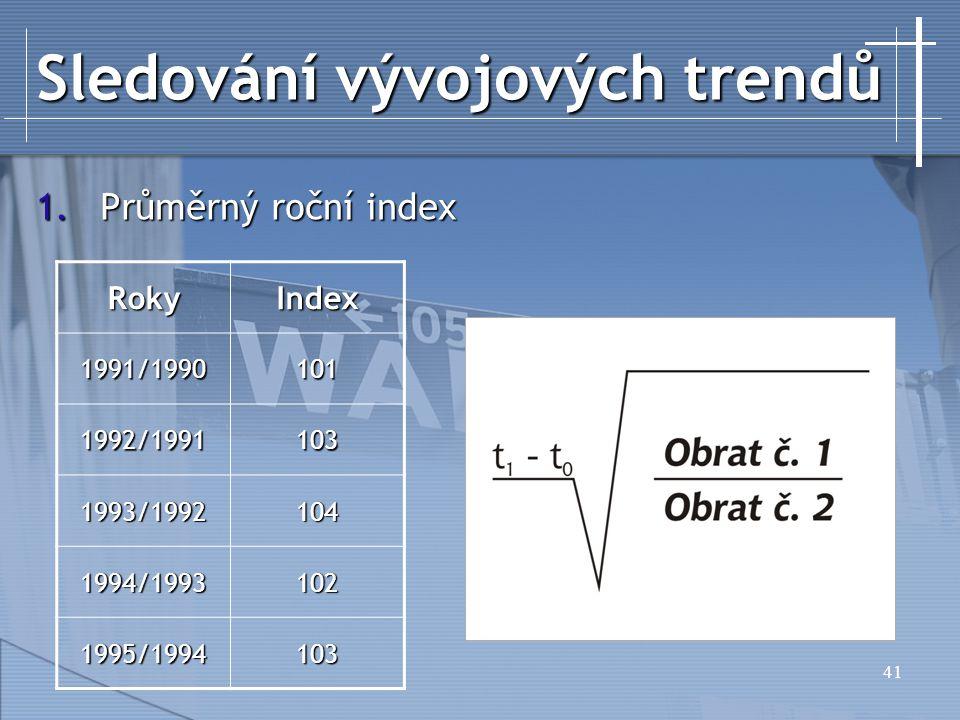 Sledování vývojových trendů
