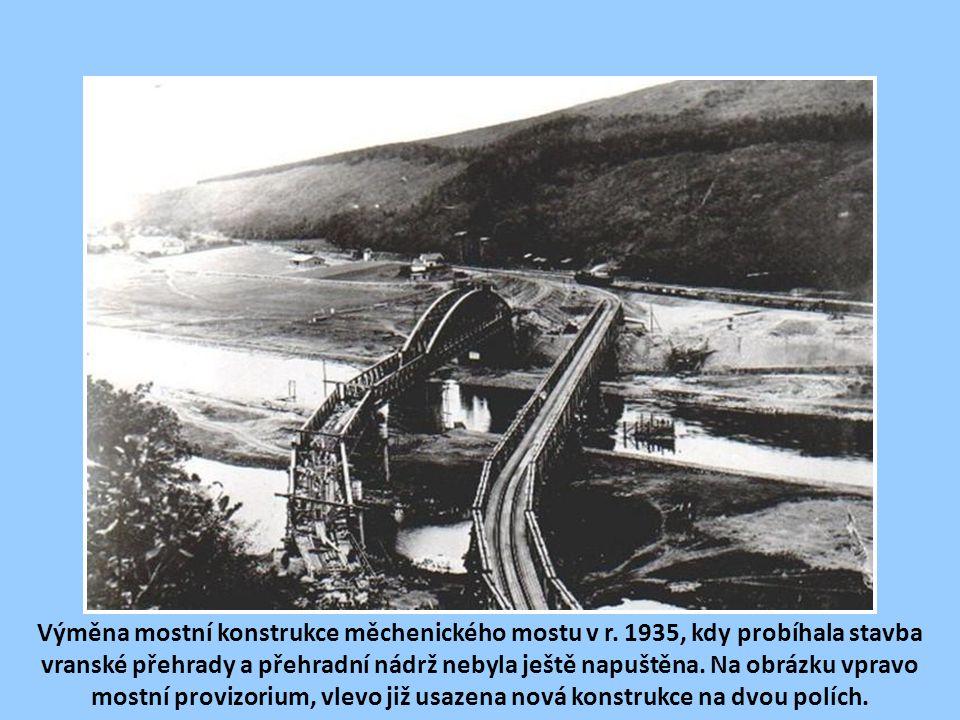 Výměna mostní konstrukce měchenického mostu v r