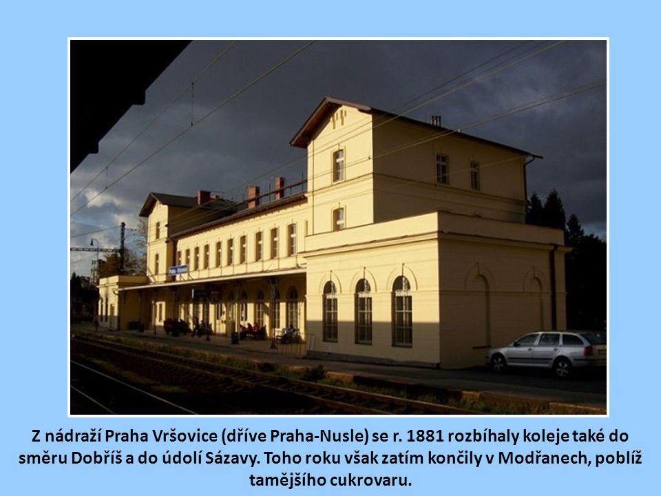 Z nádraží Praha Vršovice (dříve Praha-Nusle) se r