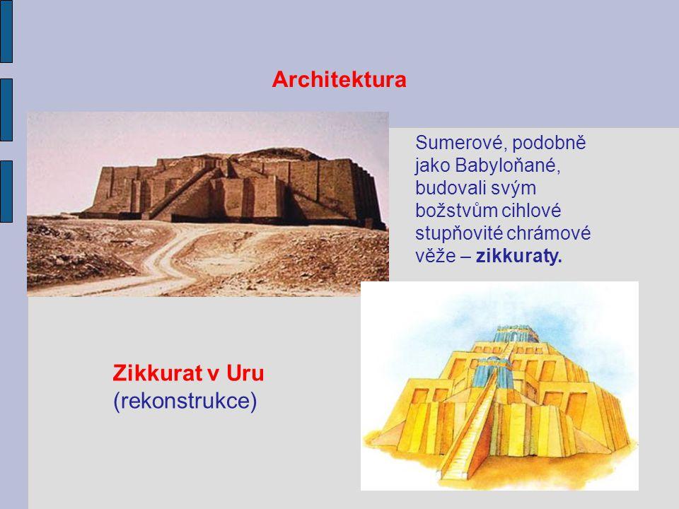 Architektura Zikkurat v Uru (rekonstrukce)