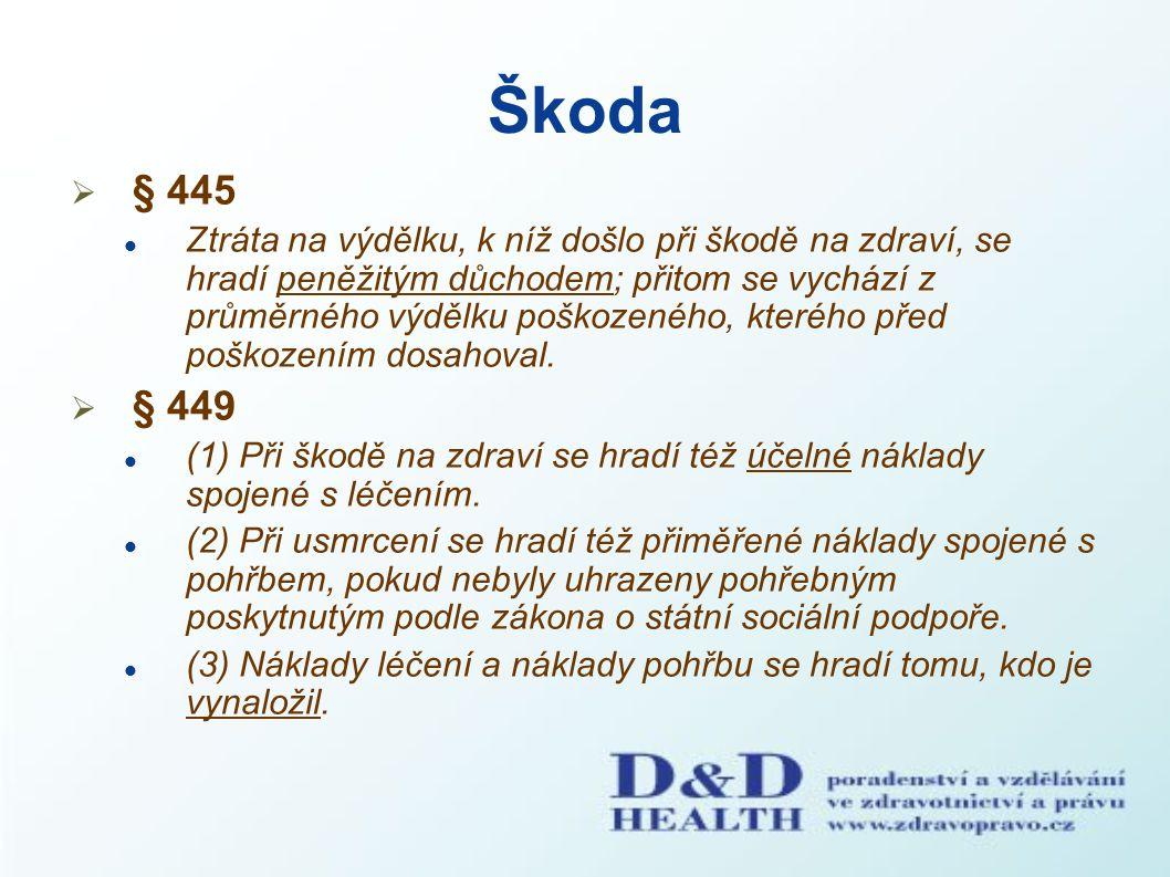 Škoda § 445.