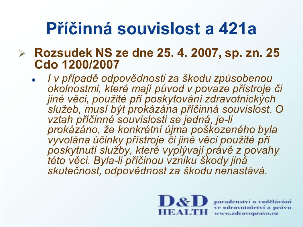 Příčinná souvislost a 421a