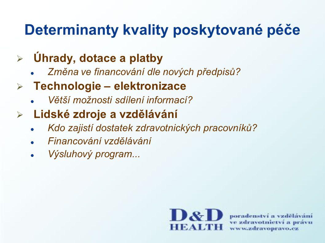 Determinanty kvality poskytované péče
