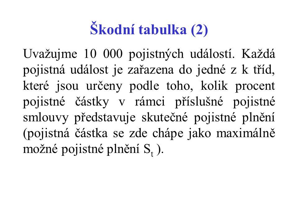 Škodní tabulka (2)