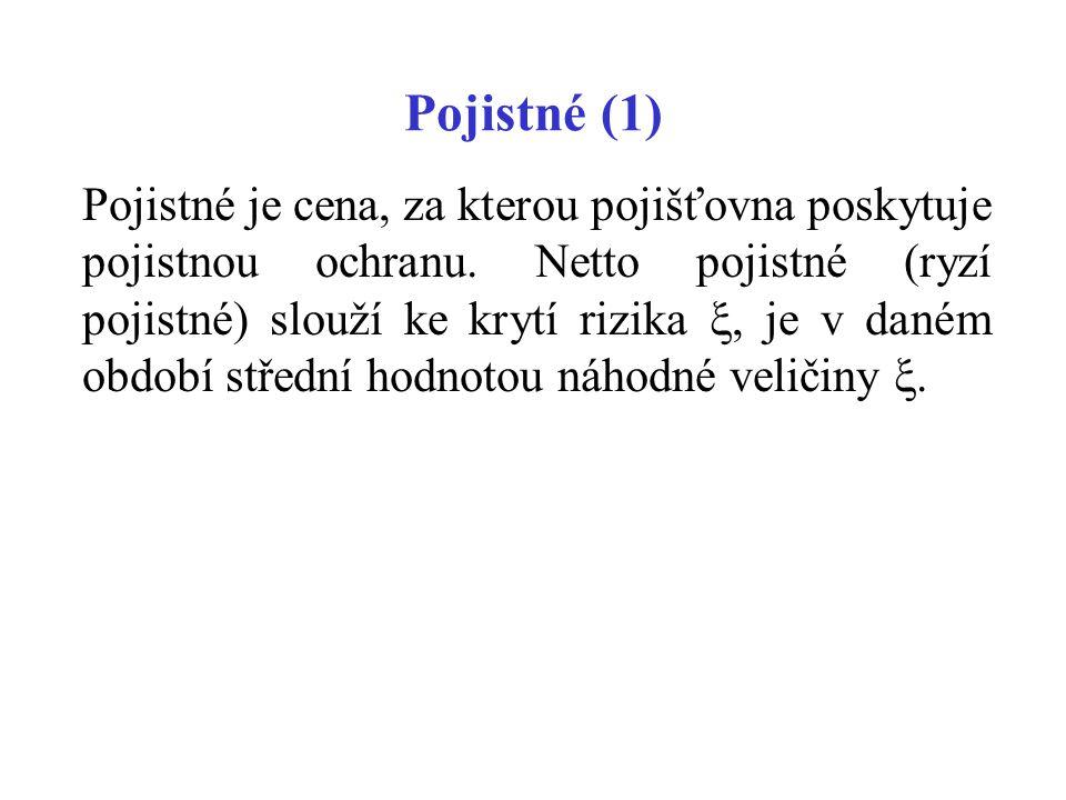 Pojistné (1)