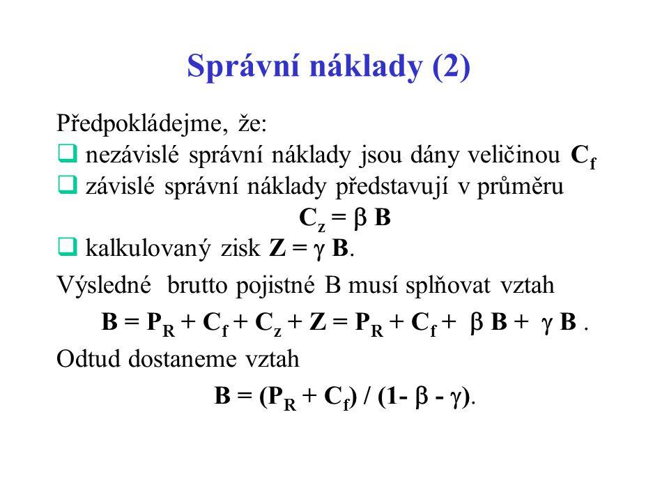 B = PR + Cf + Cz + Z = PR + Cf +  B +  B .