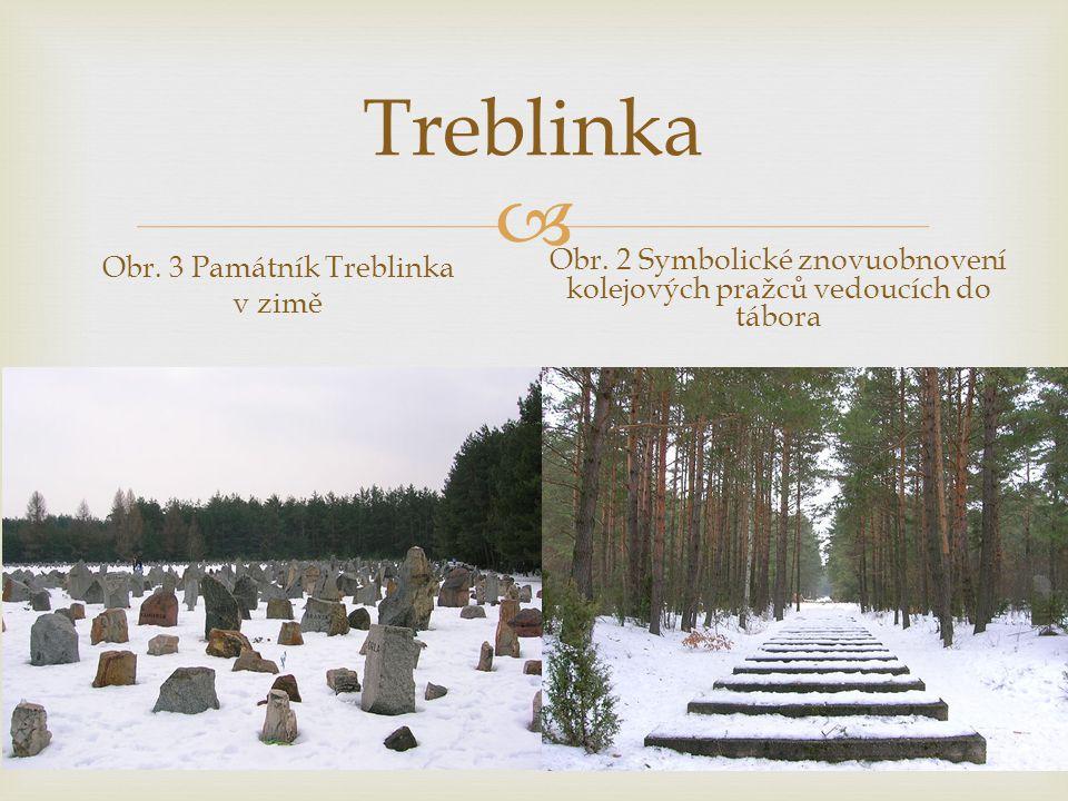 Treblinka Obr. 2 Symbolické znovuobnovení kolejových pražců vedoucích do tábora.