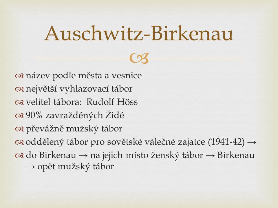Auschwitz-Birkenau název podle města a vesnice