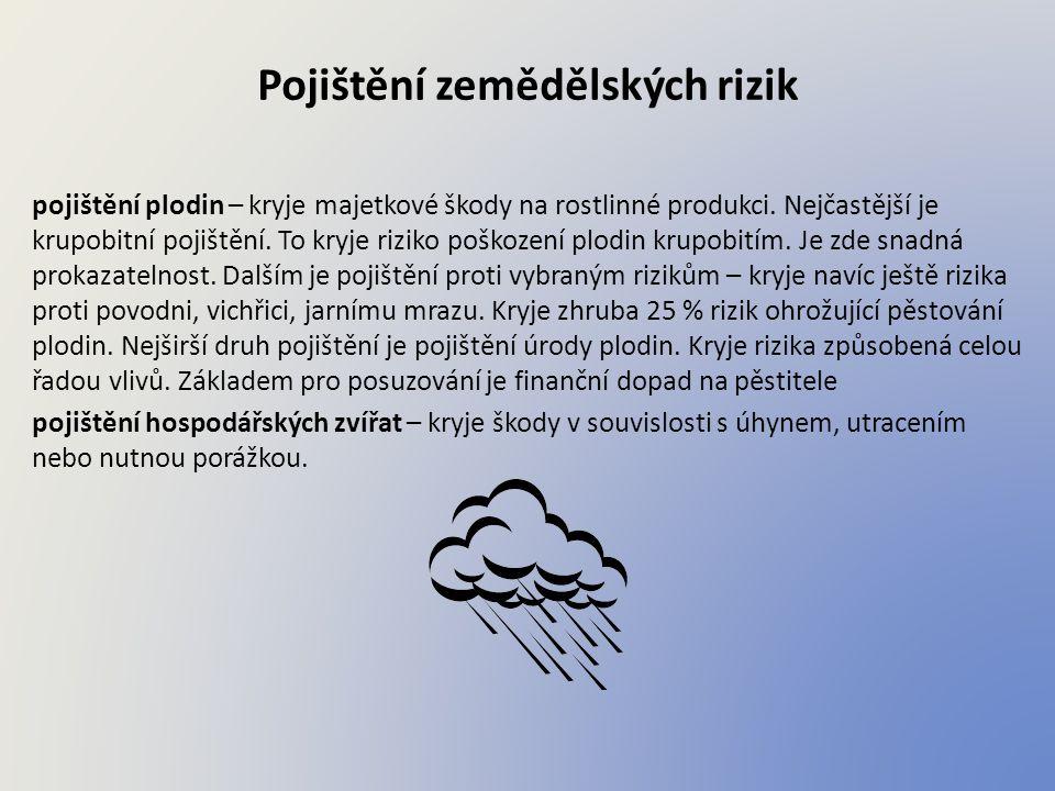 Pojištění zemědělských rizik