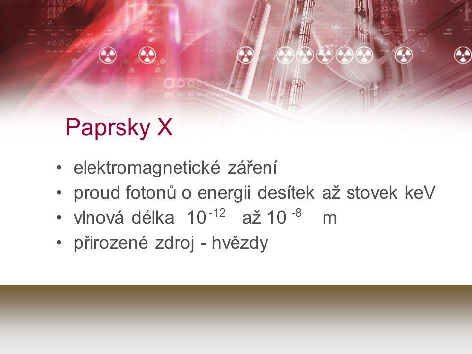 Paprsky X elektromagnetické záření