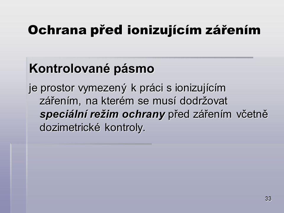 Ochrana před ionizujícím zářením