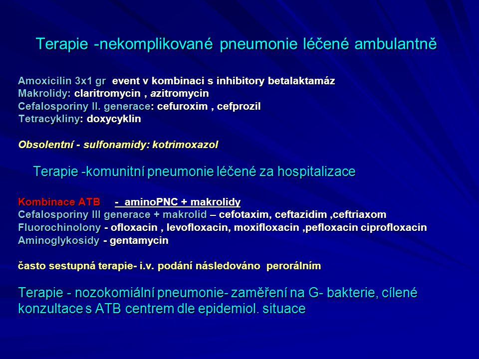 Terapie -nekomplikované pneumonie léčené ambulantně