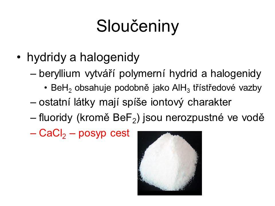 Sloučeniny hydridy a halogenidy