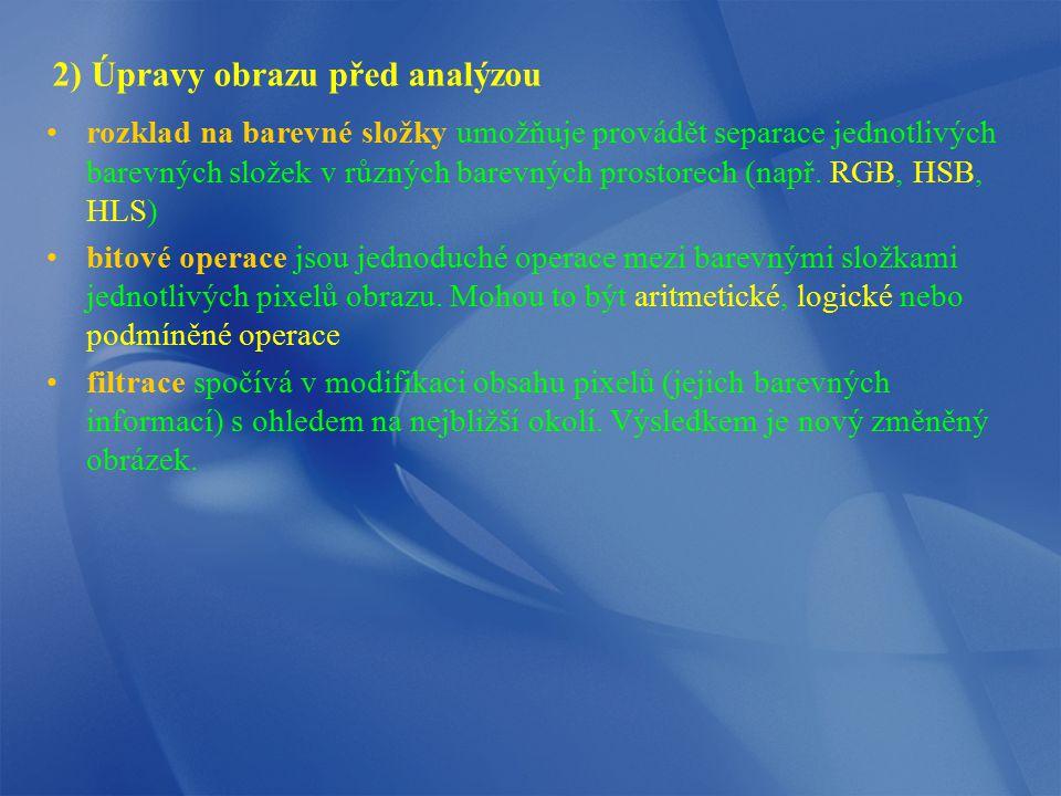 2) Úpravy obrazu před analýzou