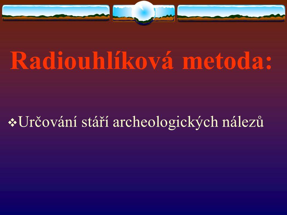 Radiouhlíková metoda: