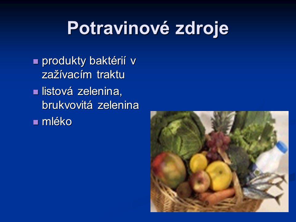 Potravinové zdroje produkty baktérií v zažívacím traktu