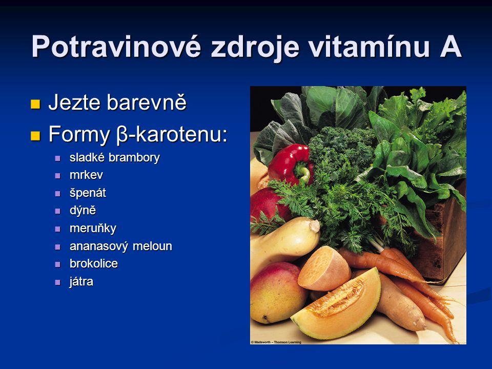 Potravinové zdroje vitamínu A
