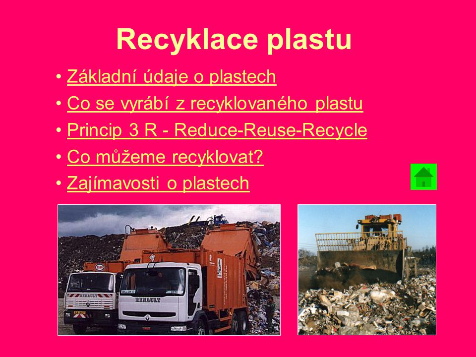 Recyklace plastu Základní údaje o plastech