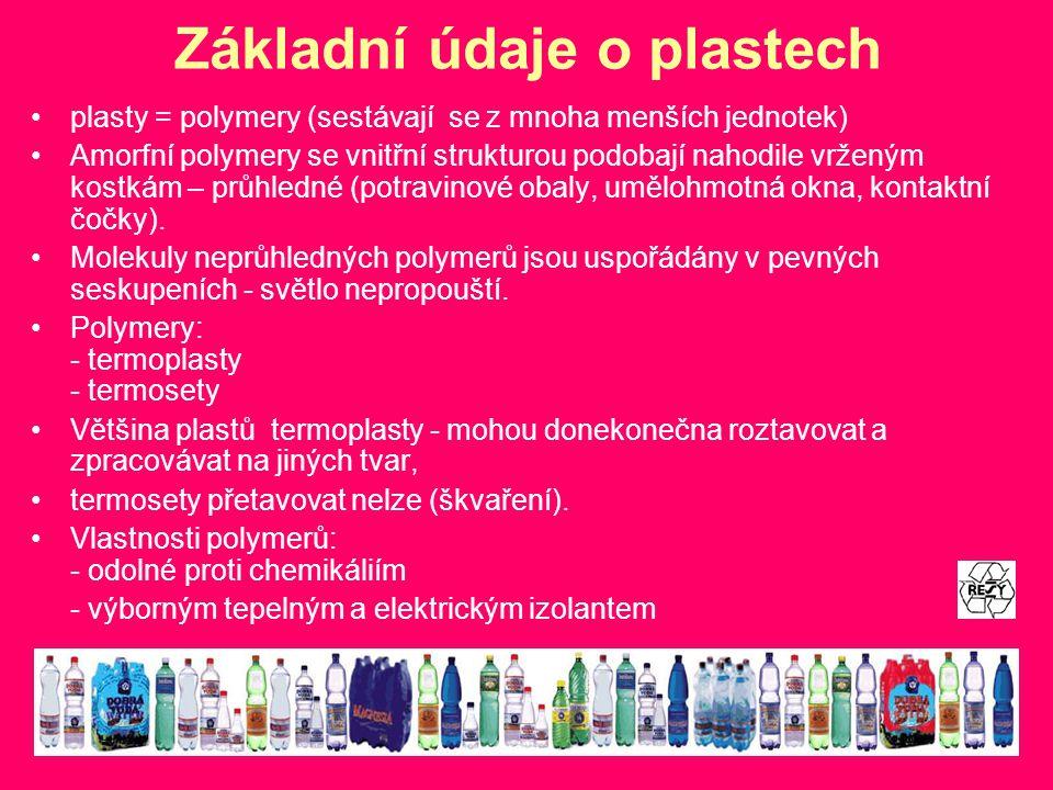 Základní údaje o plastech