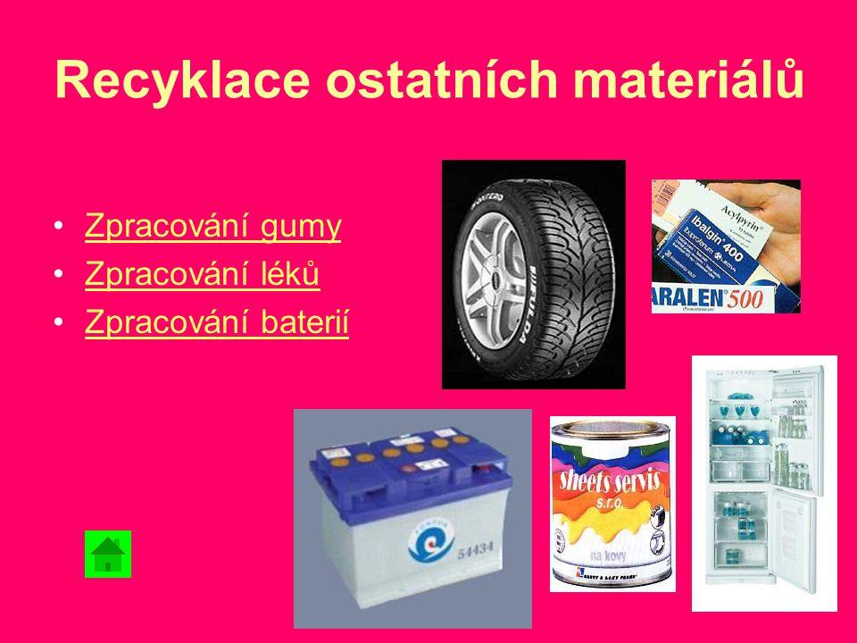 Recyklace ostatních materiálů