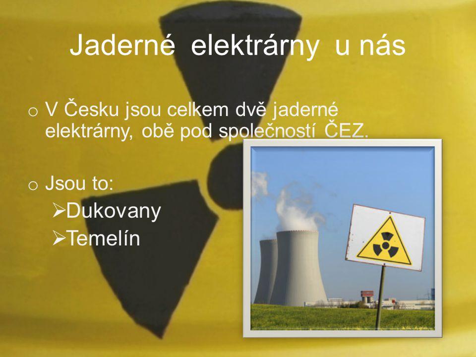 Jaderné elektrárny u nás