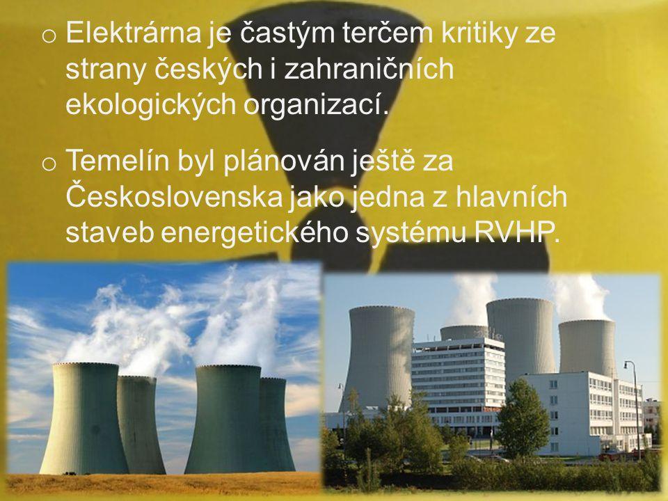 Elektrárna je častým terčem kritiky ze strany českých i zahraničních ekologických organizací.