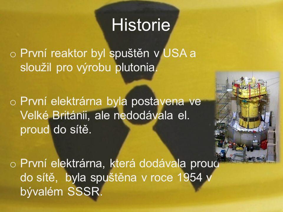 Historie První reaktor byl spuštěn v USA a sloužil pro výrobu plutonia.