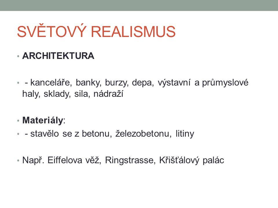 SVĚTOVÝ REALISMUS ARCHITEKTURA