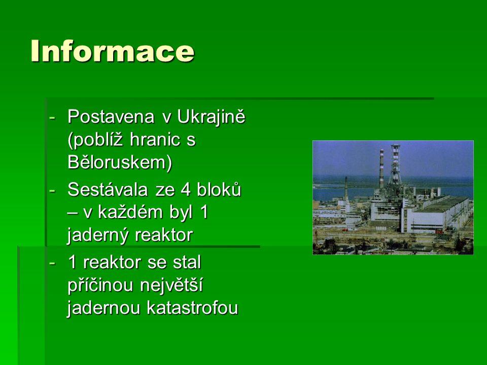 Informace Postavena v Ukrajině (poblíž hranic s Běloruskem)