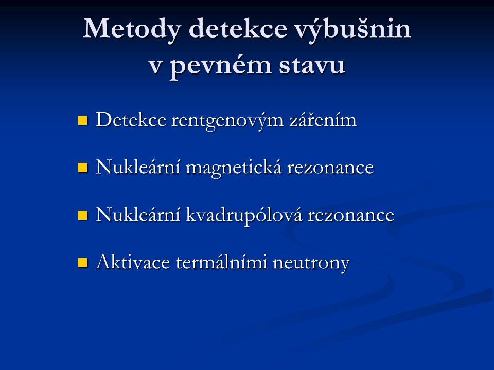 Metody detekce výbušnin v pevném stavu