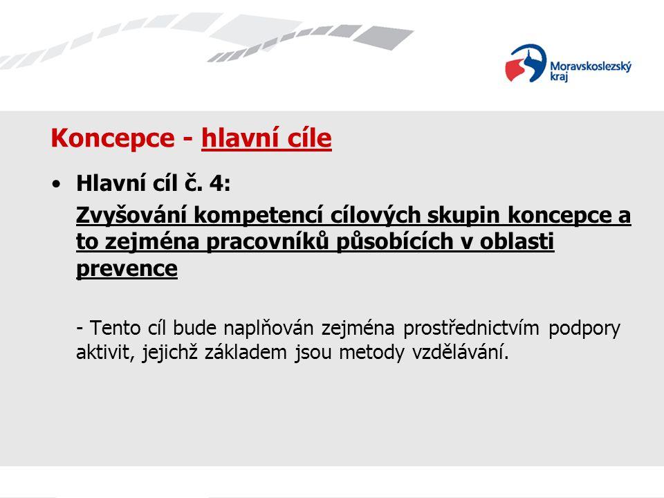 Koncepce - hlavní cíle Hlavní cíl č. 4: