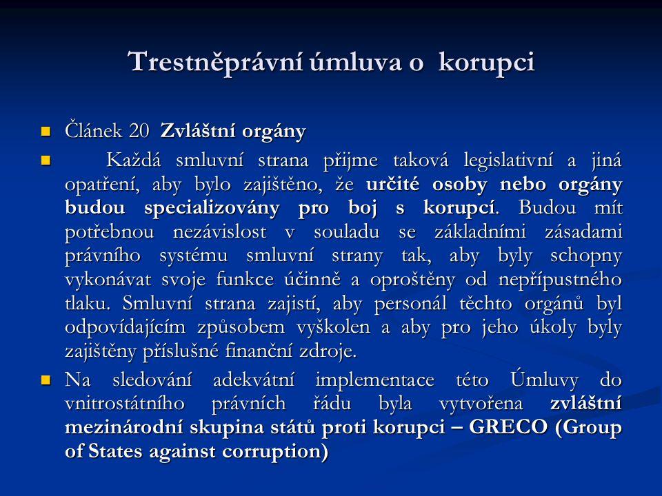 Trestněprávní úmluva o korupci