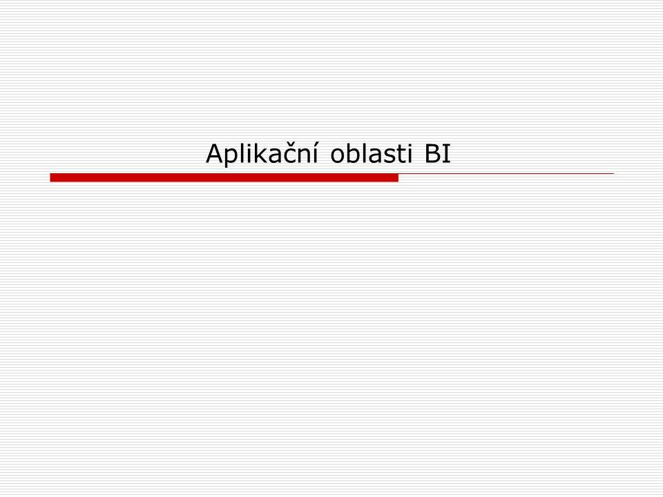 Aplikační oblasti BI