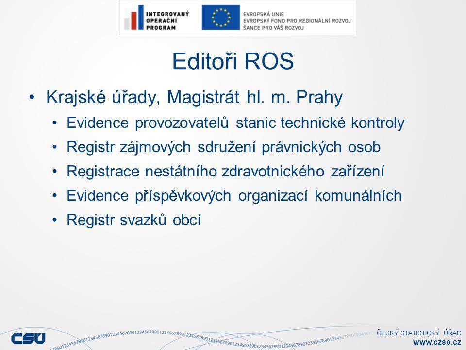 Editoři ROS Krajské úřady, Magistrát hl. m. Prahy