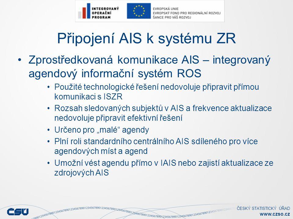 Připojení AIS k systému ZR