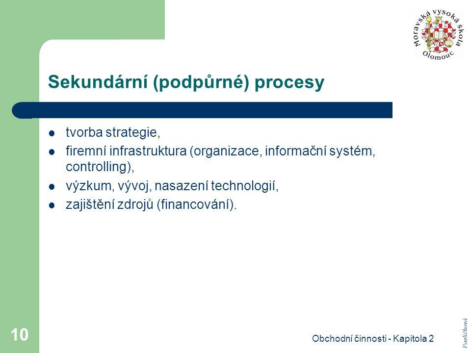 Sekundární (podpůrné) procesy