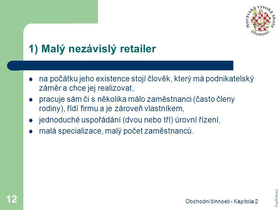1) Malý nezávislý retailer