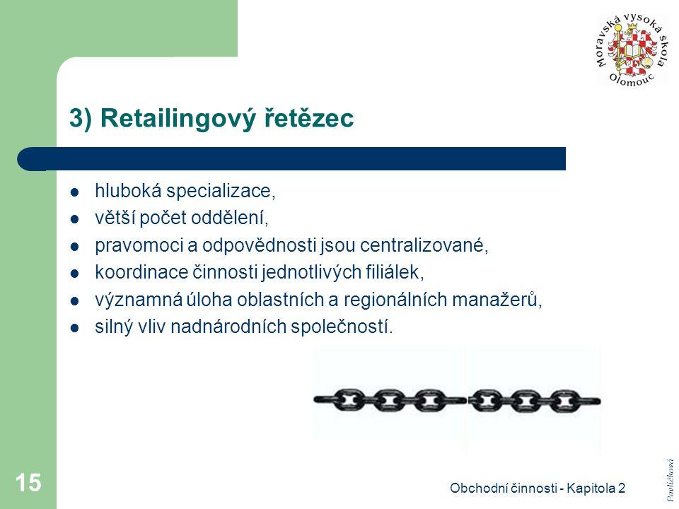 3) Retailingový řetězec