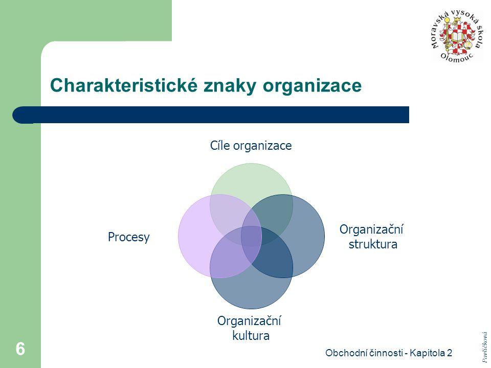 Charakteristické znaky organizace