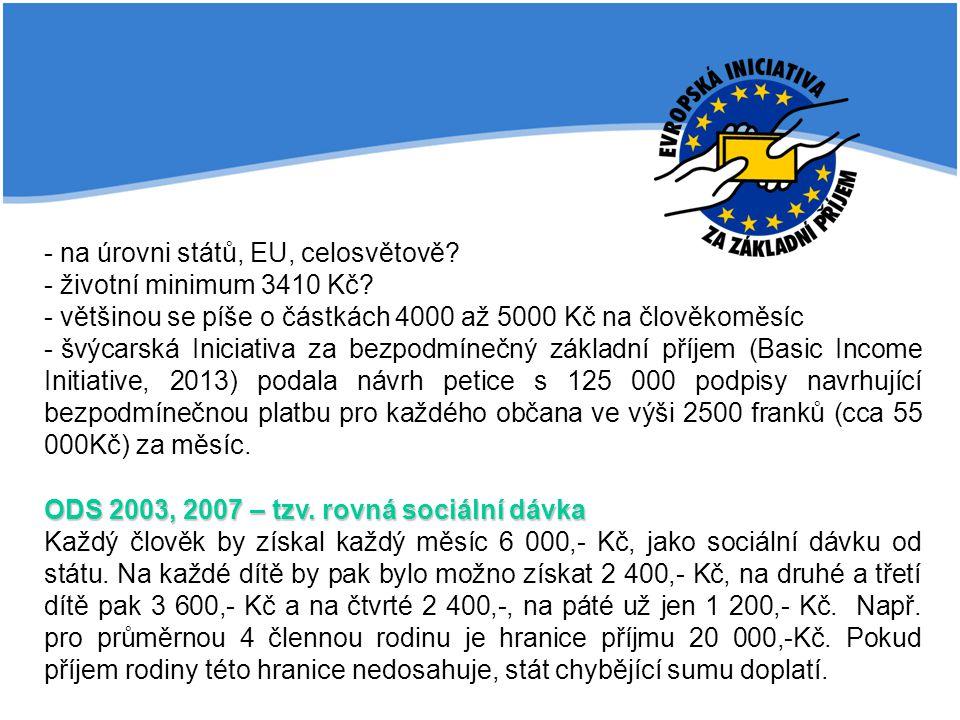 - na úrovni států, EU, celosvětově
